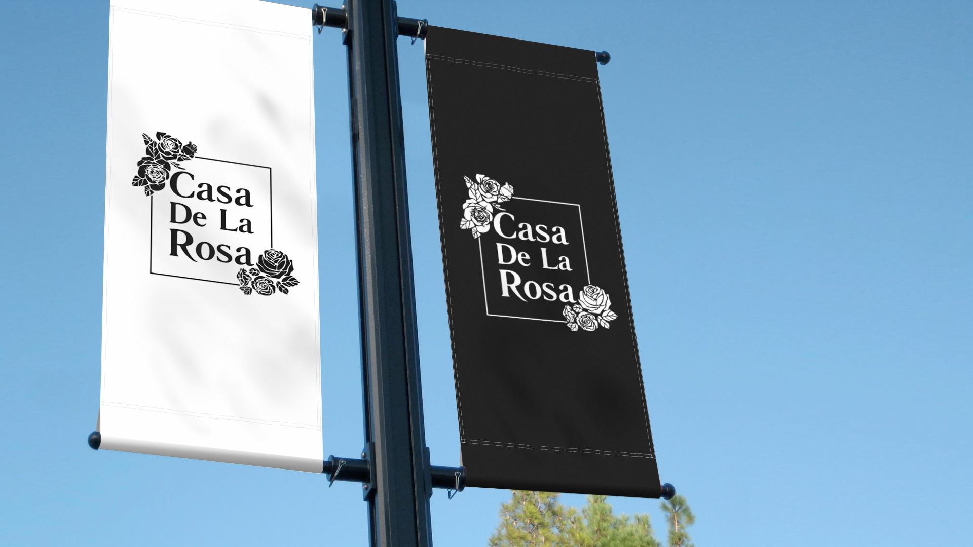 Логотип + Фирменный знак для элитного поселка Casa De La Rosa фото f_5575cd2f26e35b77.jpg