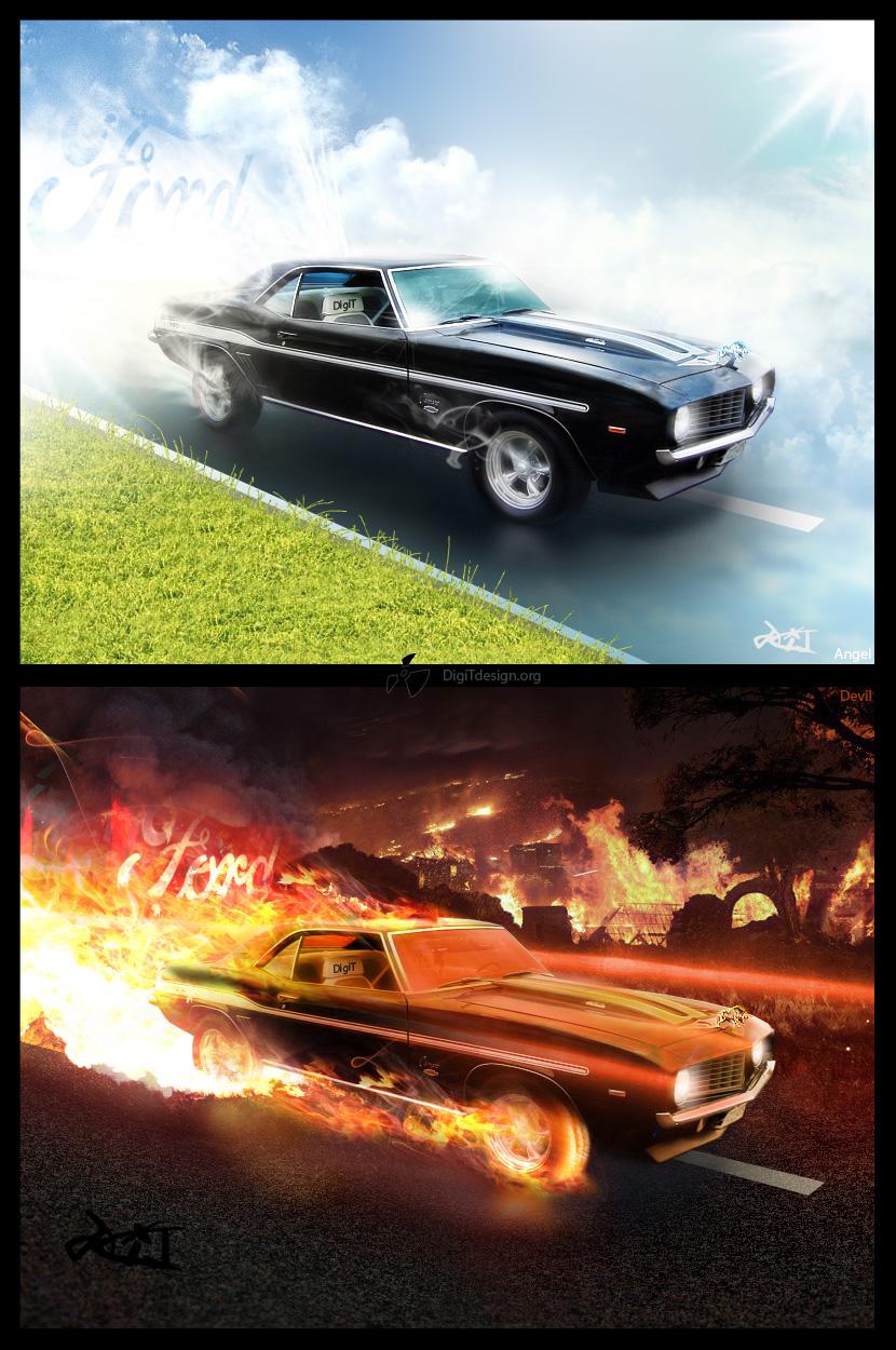 Angel & Devil cars
