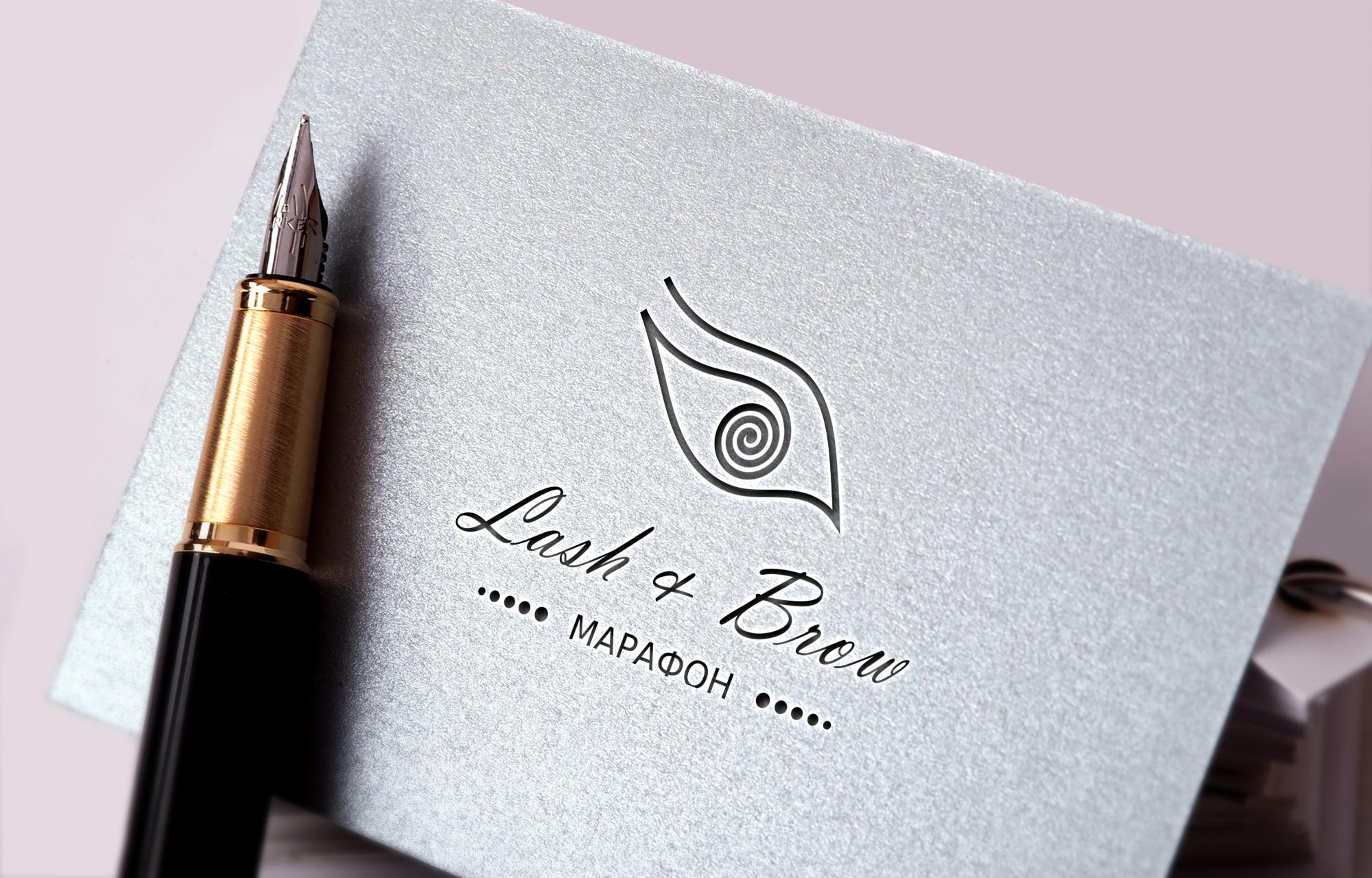 "Создание логотипа мероприятия ""Марафон Lash&Brow"" фото f_32558f748ee277af.jpg"