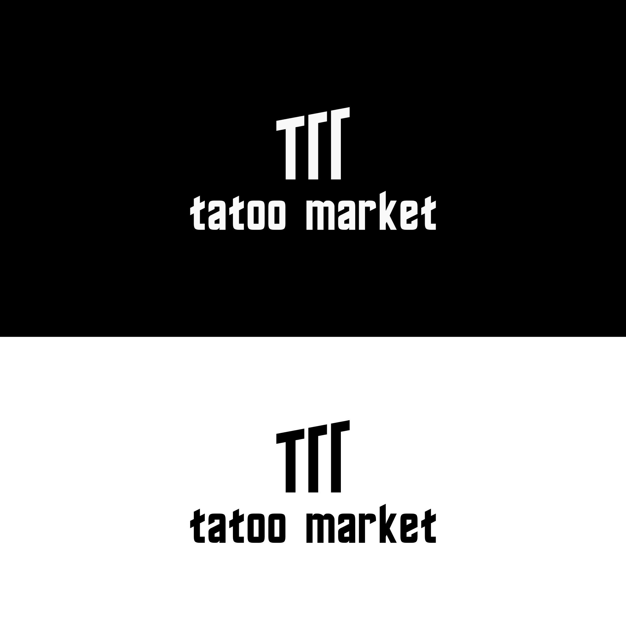 Редизайн логотипа магазина тату оборудования TattooMarket.ru фото f_5845c53546467cbe.png