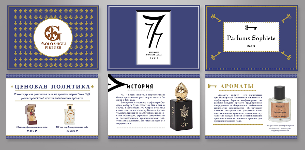 3 типовых презентации новых продуктов для парфюмерного дилера