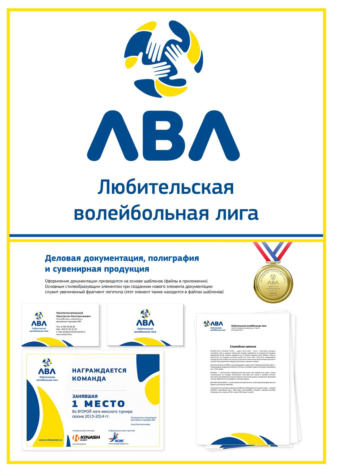 Логотип+фирменный стиль+гайдлайн для спортивной компании ЛВЛ