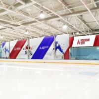 Дизайн растяжек на хоккейной площадке