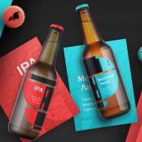 Дизайн упаковки ко всем видам пива hoppium