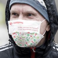 Реклама на масках во время пандемии