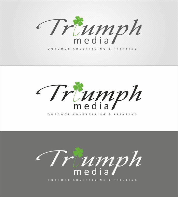 Разработка логотипа  TRIUMPH MEDIA с изображением клевера фото f_5072bba9cd4ac.jpg