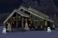 Новогоднее световое оформление коттеджа (фотомонтаж)
