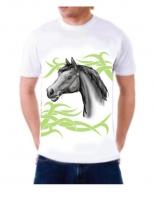 Футболка с лошадью