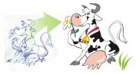 корова для упаковки молока