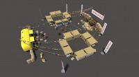Стилизация зоны для ярмарки