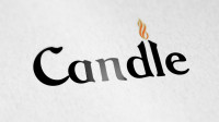Логотип магазина винтажного освещения Candle