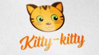 Логотип зоомагазина Kitty-kitty