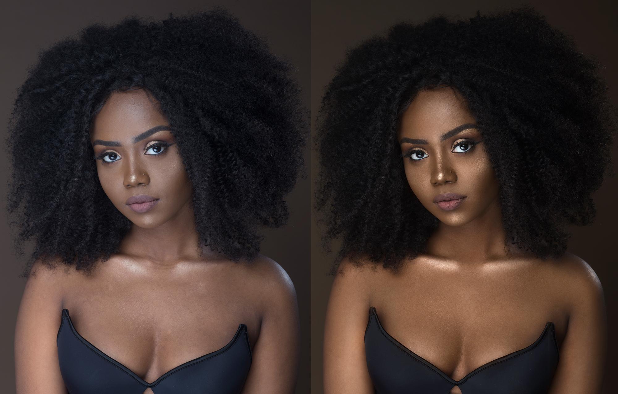 Портрет темнокожей девушки