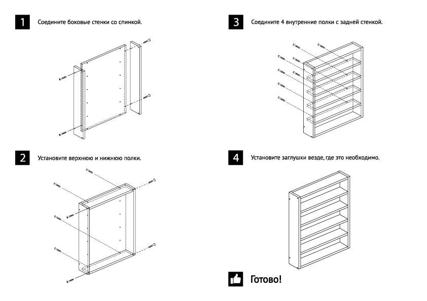 Инструкция по сборке мебели 2