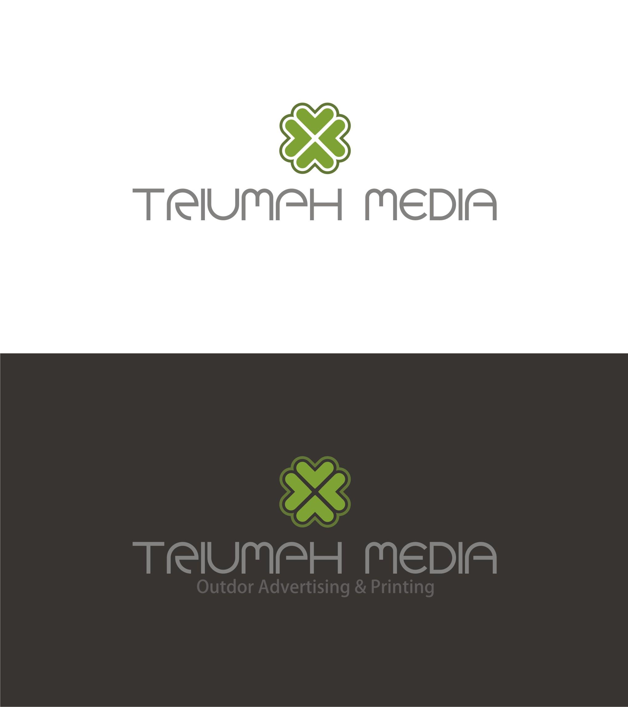 Разработка логотипа  TRIUMPH MEDIA с изображением клевера фото f_507099ed335b7.jpg