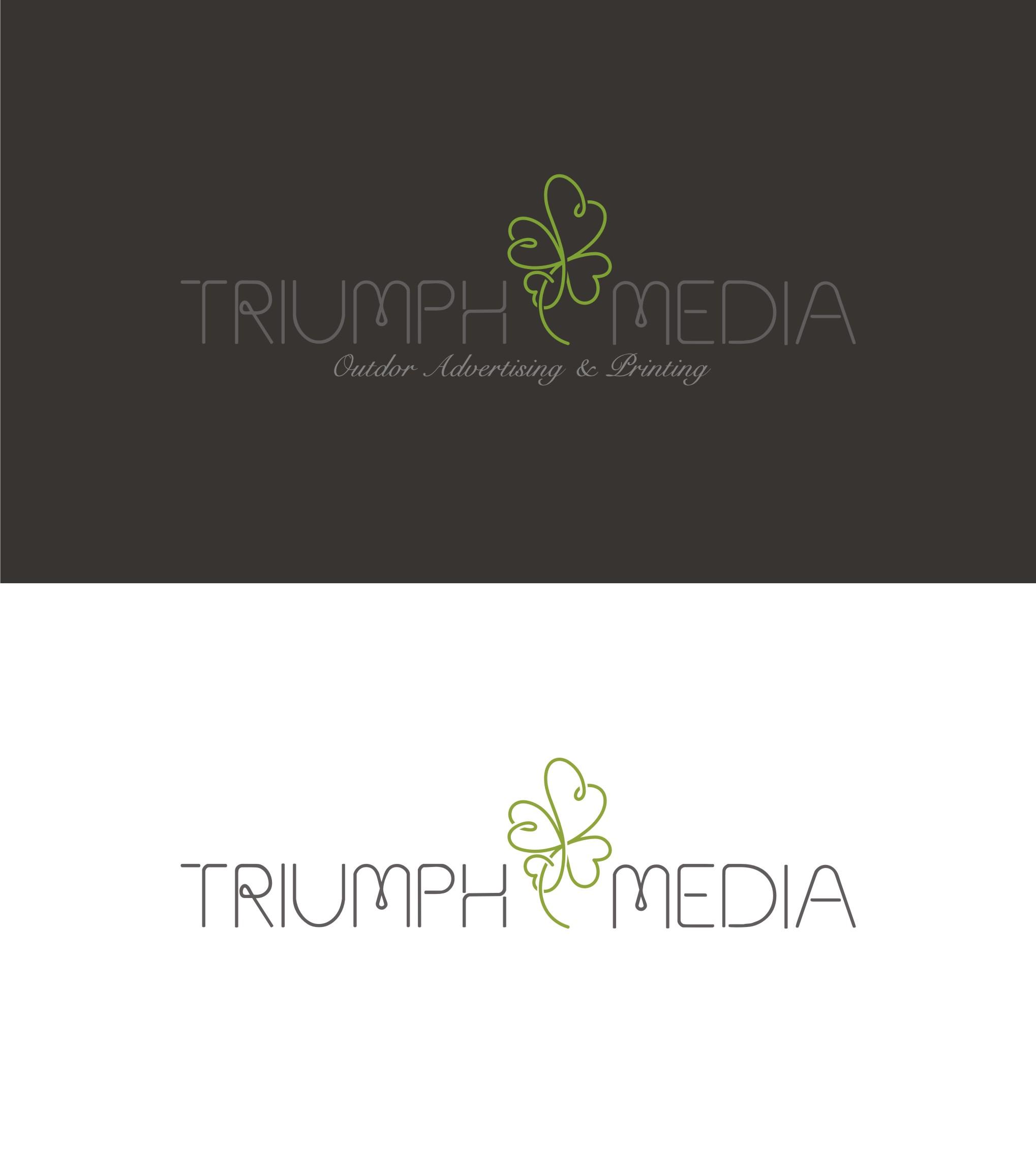 Разработка логотипа  TRIUMPH MEDIA с изображением клевера фото f_507099f07b5c5.jpg