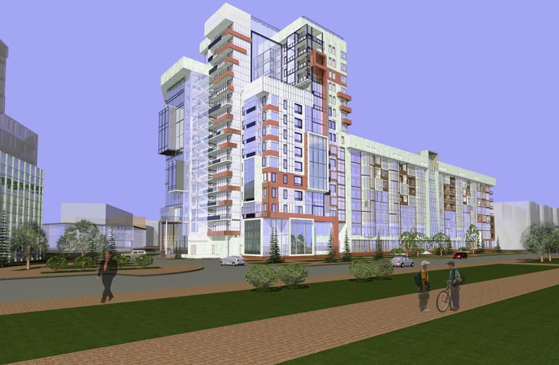 Проект жилого комплекса - перспектива 1