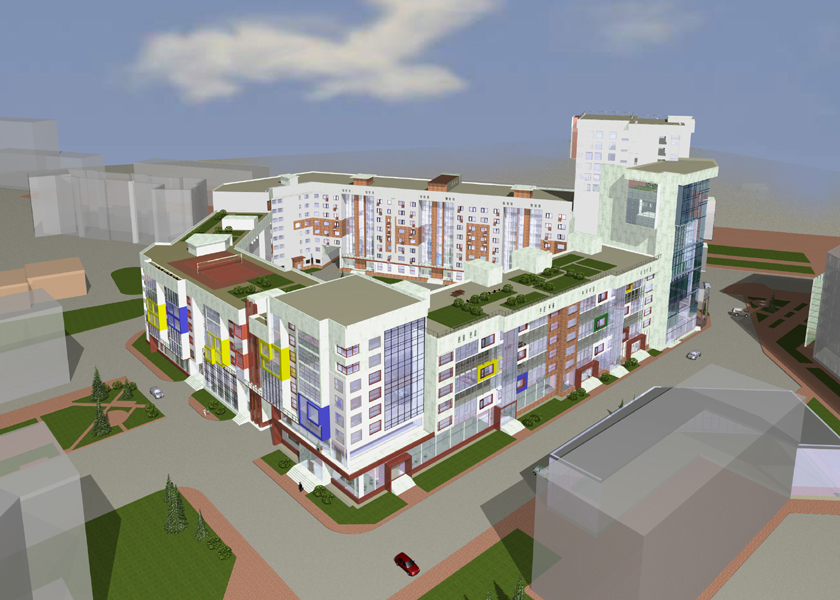 Проект жилого комплекса - перспектива 2
