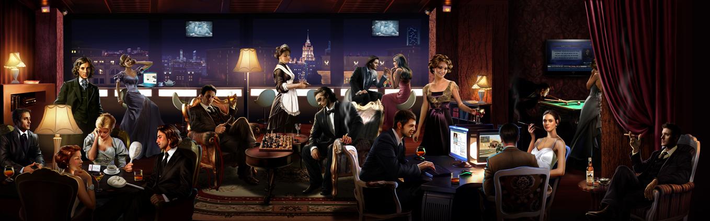 Иллюстрация для рекламы клуба