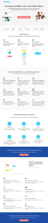 """Вёрстка LP для онлайн-курсов обучения маркетингу """"Wunder"""" (Бразилия)"""