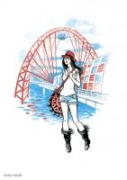 Fashion иллюстрация для обложки блокнота 4
