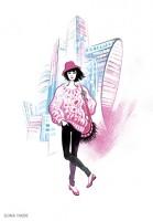 Fashion иллюстрация для обложки блокнота 1