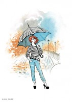 Fashion иллюстрация для обложки блокнота 2