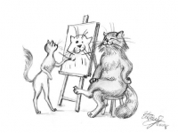 Жили-были Кот и Кошка. 1