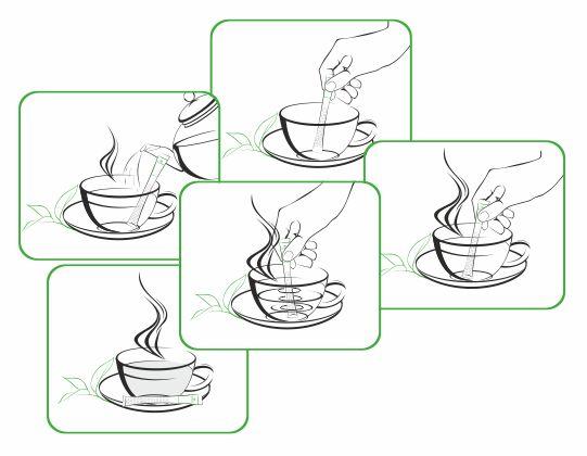 иллюстрация заваривания чая