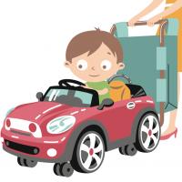 Иллюстрации с существующими персонажами + дорисовка к ним родителей и логотипа
