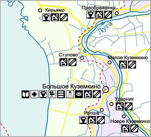 Тематическая карта-схема 1 (фрагмент)