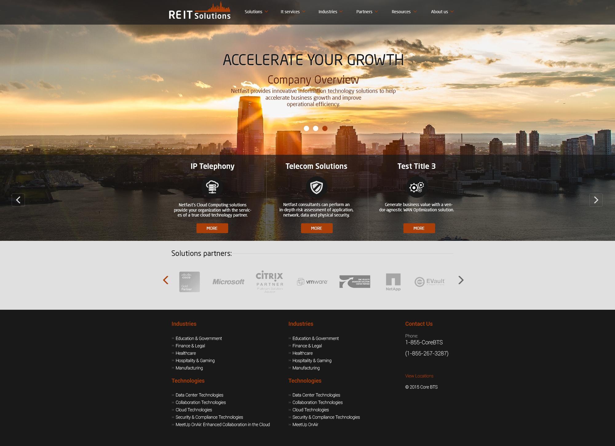 Дизайн сайта: IP телефония
