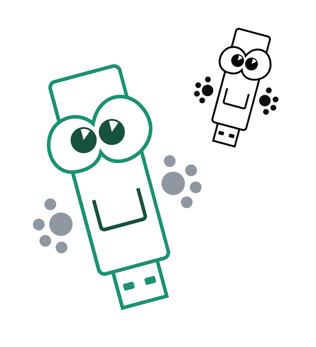 Персонаж для рекламных листовок (Компьютерная Помощь)