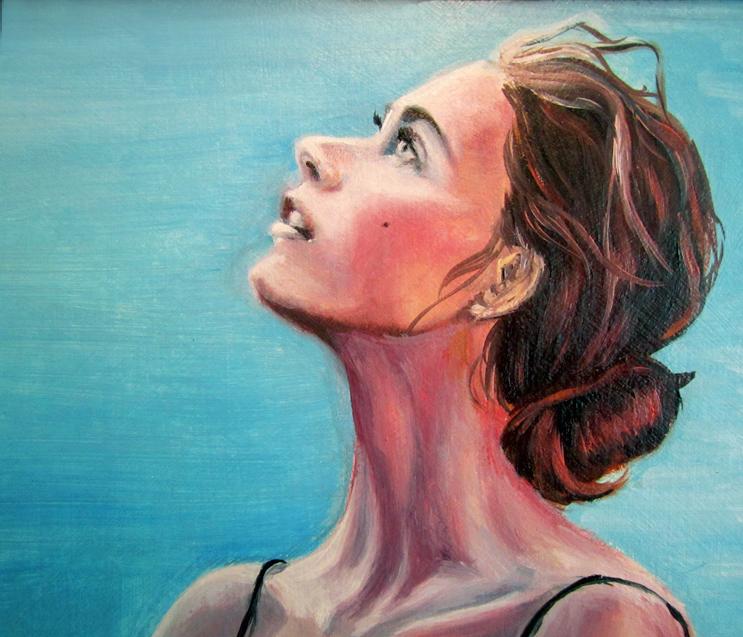 Портрет в полный рост. 60х70, холст,масло