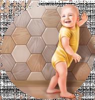 Рекламная иллюстрация для экологичных стеновых покрытий