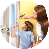 Рекламная иллюстрация для дверной фабрики