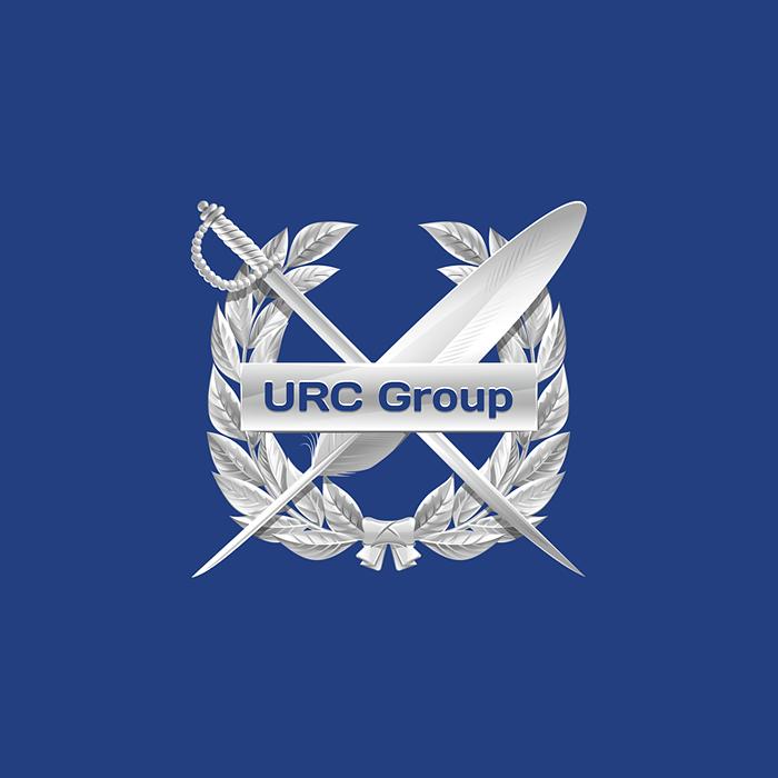 Эмблема юридической компании URC Group. 100% вектор