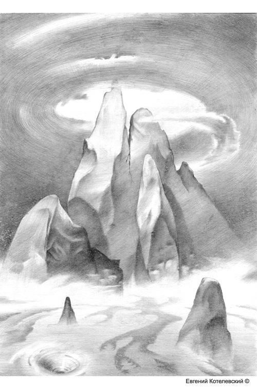 Вершина. Карандашный рисунок.