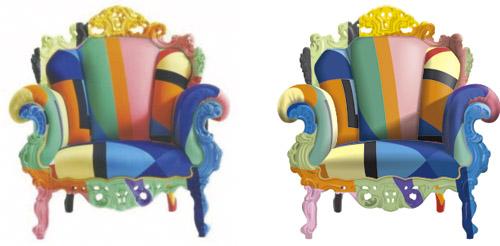 Отрисовка кресла. 100% вектор.