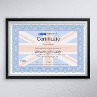 Сертификат Школы английского языка