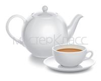 Чайная композиция. 100% Вектор