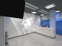 Вестибюль офиса IT-компании. Рецепция