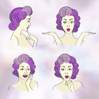 Иллюстрации лица
