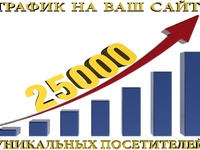 Увеличим количество посещений вашего сайта до 25 000 тысяч уникальных