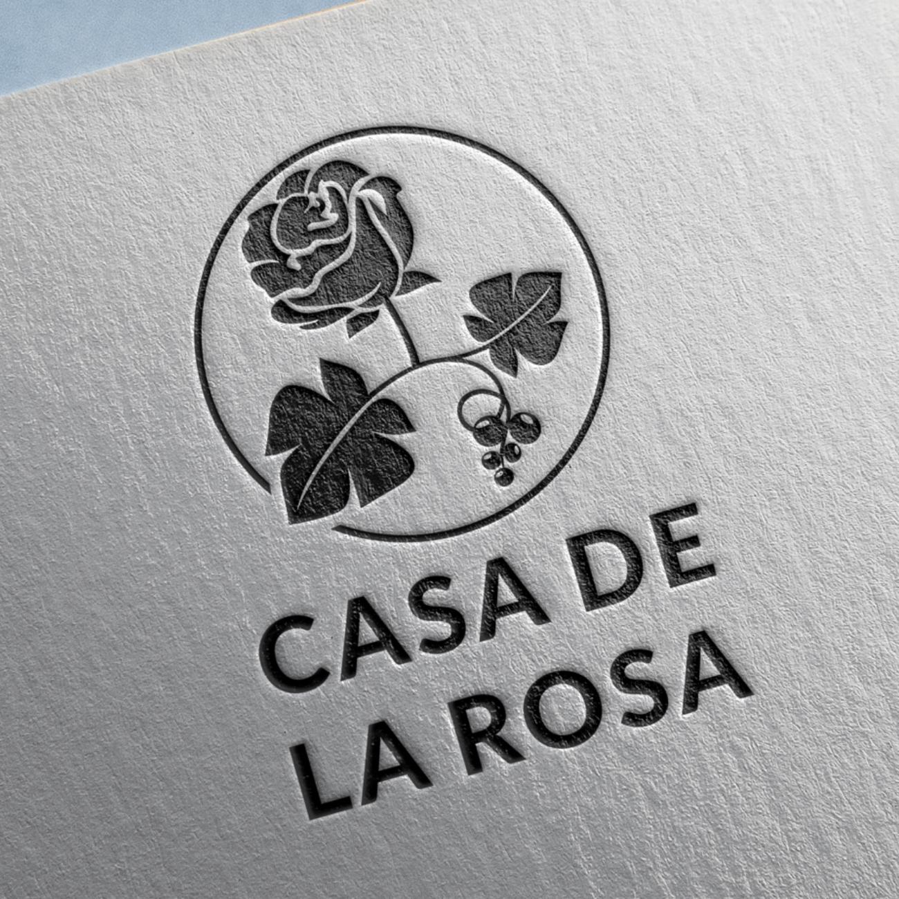 Логотип + Фирменный знак для элитного поселка Casa De La Rosa фото f_2515cd4a6465da70.jpg