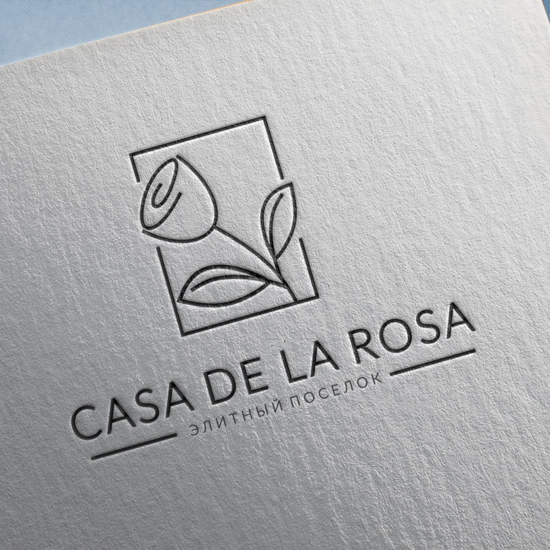 Логотип + Фирменный знак для элитного поселка Casa De La Rosa фото f_6595cd550bf65980.jpg