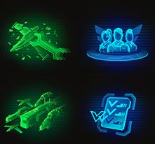 Иконки для игры в стиле Sci Fi