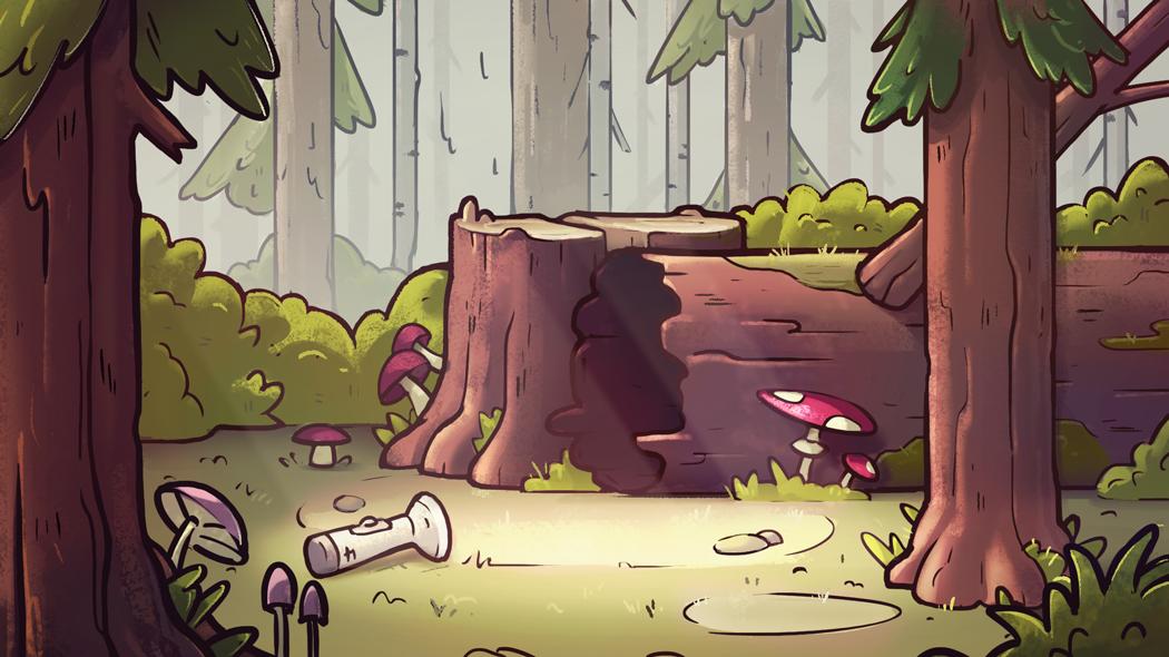 Фон для анимационного мультфильма в стиле Gravity Falls