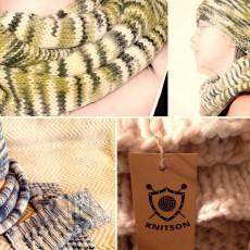 Логотип Knitson – вязаные вещи ручной работы.