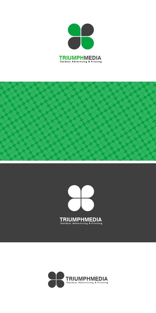 Разработка логотипа  TRIUMPH MEDIA с изображением клевера фото f_506ed889c5611.jpg